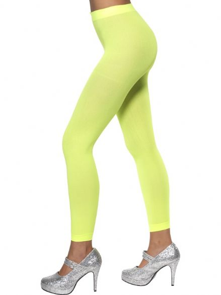 1980's Neon Green Footless Tights